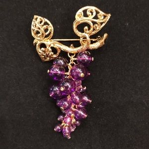 Vintage Avon Grape Cluster Brooch